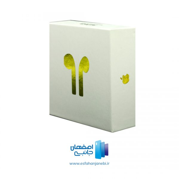 هندزفری بی سیم اپل مدل Airpods رنگ گلد همراه با کیس شارژ رنگ گلد