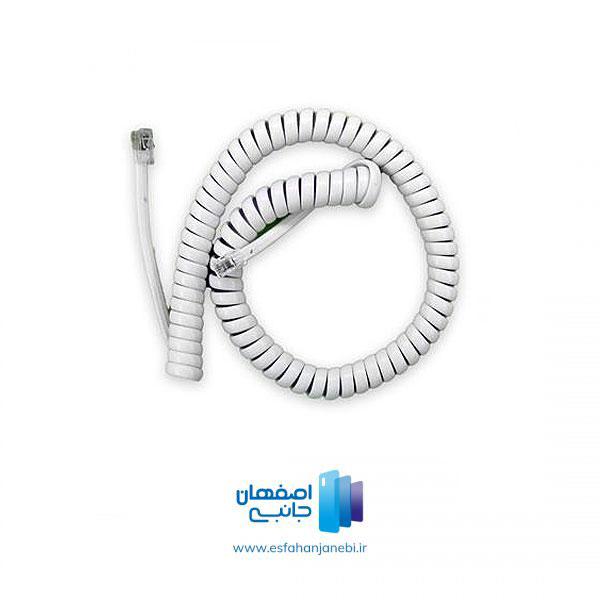 کابل فنری تلفن سفید | اصفهان جانبی